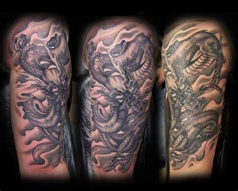 dragon tattoo half sleeve designs 28 dragon tattoos on half sleeve