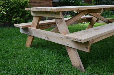 8 ft picnic table plans 8 cedar picnic table by ayryq lumberjocks com