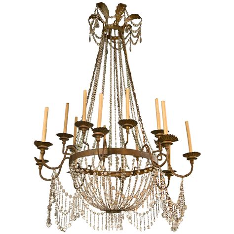 Large French Crystal 16 Arm Chandelier For Sale At 1stdibs Large Chandeliers
