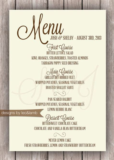 simple wedding reception menu ideas best 25 rehearsal dinner menu ideas on