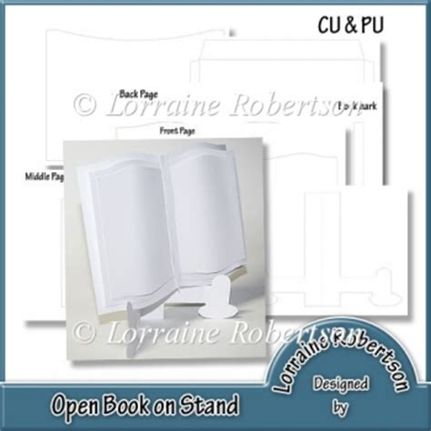 Open Book Template For Card by Open Book On Stand Template 163 2 20 Instant Card