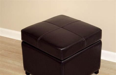 Leather Cube Storage Ottoman Brown New Leather Storage Cube Ottoman Footstool Ebay