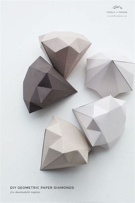 Origami Diamonds - 25 best ideas about paper on