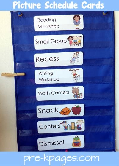 free classroom picture card templates printable picture schedule cards blue preschool schedule