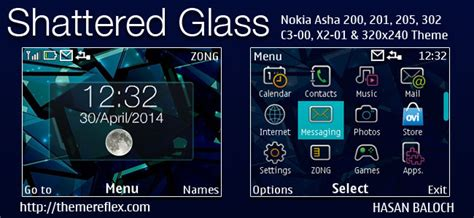 nokia x2 glass themes shattered glass themes themereflex