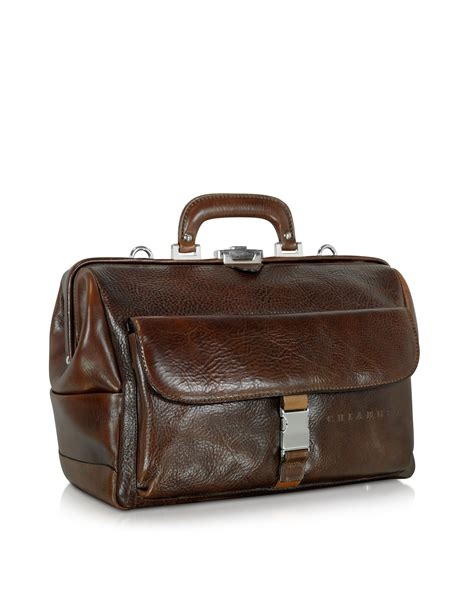Doctor Bag chiarugi large brown hammered leather doctor bag in brown