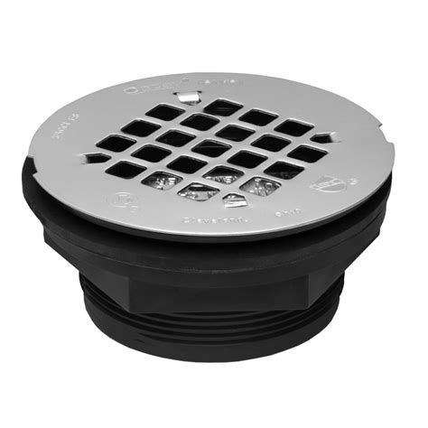 Lowes Shower Drain by Shop Oatey Fits Pipe Size 4 25 In Dia Black Abs Shower