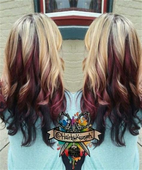 blonde and burgundy hairstyles 25 best ideas about burgundy blonde hair on pinterest