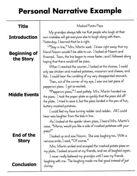 sle personal narrative essay exle and personal narrative essay sle