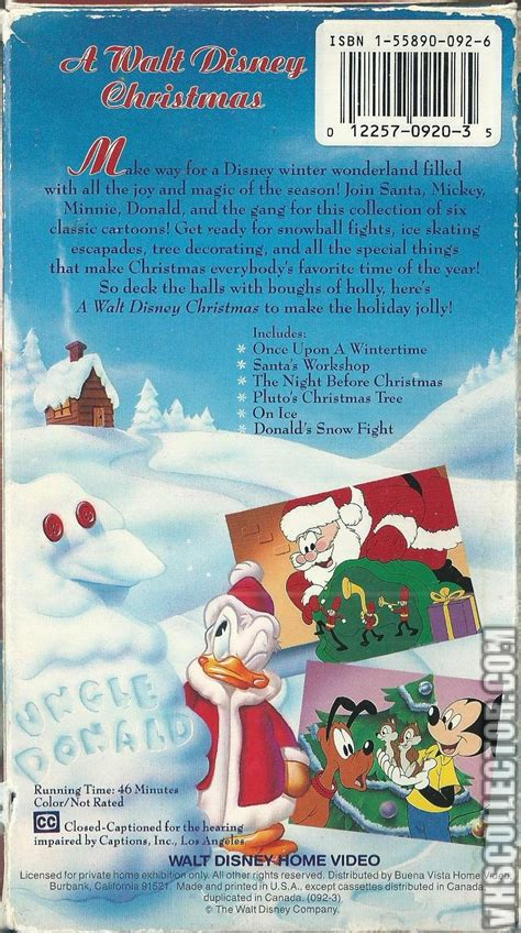 a walt disney christmas vhscollector com your analog