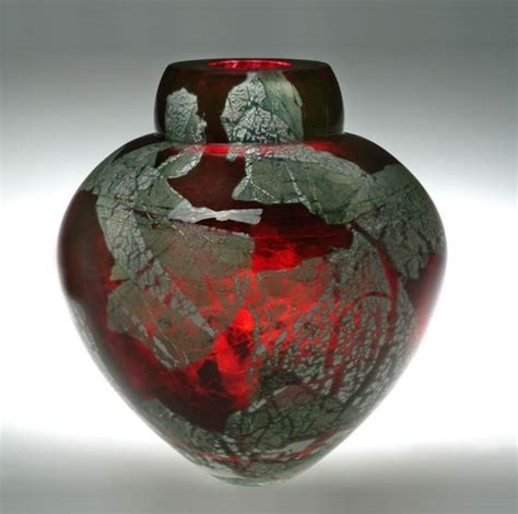 Colored Glass Vases And Bowls Gold Ruby Emperor Bowl By Randi Solin Glass Vase
