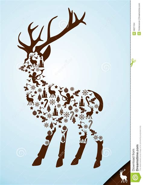christmas stag elements stock images image 6821164