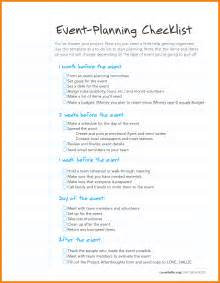 Event Planning To Do List Template by 6 Event Planning Checklist Template Nypd Resume