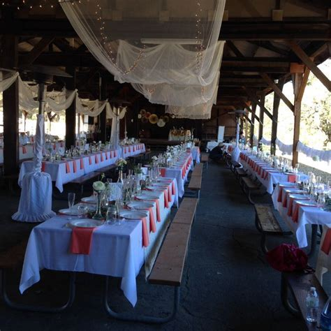 Paramount Ranch Dining Hall Decor   Wedding Brainstorm