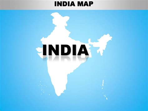 India Country Editable Powerpoint Maps With States And Counties India Map Ppt Template