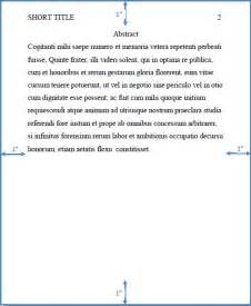 Apa Format Essay Abstract by Franklin Style Manual 3 2 Standard Parts Of An Apa Paper