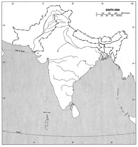 Asia Rivers Outline Map by Blank Maps