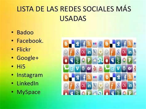conoce las redes sociales m 225 s utilizadas mombli lista redes sociales redes sociales