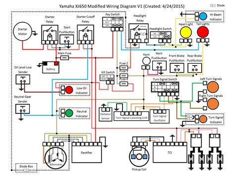 basic motorcycle diagram wiring diagram with description