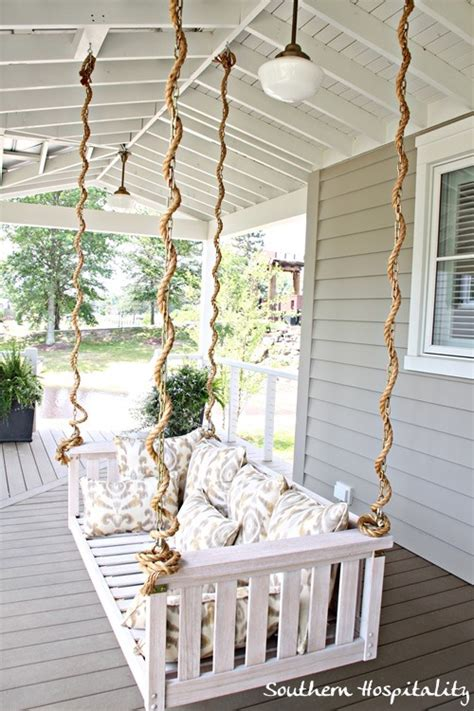 porch swings with rope hangers hanging porch swing rope e x t e r i o r specific to