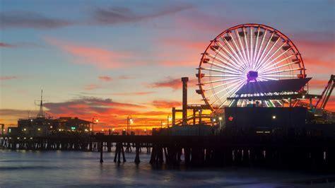 Sunset Pier Kalifornien Santa Monica wallpaper