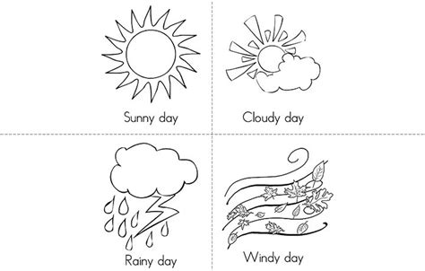 coloring pages weather pin coloring page weather symbols img 22443 on