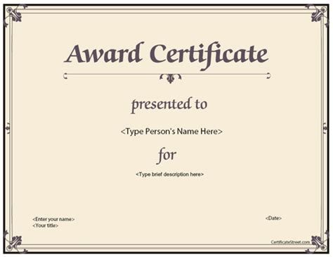 professional award certificate template business certificates all occasion award certificate