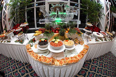 food tables at wedding reception cocktail style wedding reception al ojeda photography