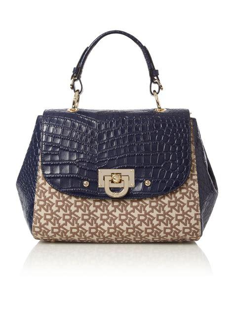 Croco Bag by Dkny Croco Satchel Crossbody Bag In Blue Lyst