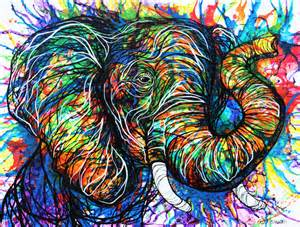 colorful elephant abstract colorful elephant original by dharrisonpaintings
