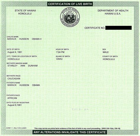 Record Of Live Birth 4 Versions Of Obama S Certificate Of Live Birth Fellowship Of The Minds