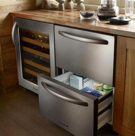 hideaway kitchen alternative refrigerator drawers traditional fridge drawer mould cooler freezer
