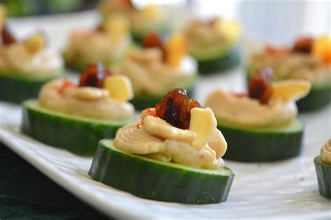 how to canapes cucumber hummus canap 233 my signature dish