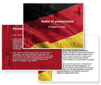 Germany Tricolor Powerpoint Template Poweredtemplate Com 06041 3 Backgrounds 3 Masters Germany Powerpoint Template