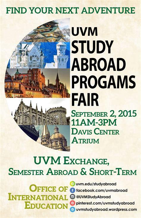 uvm study abroad programs fair uvm bored