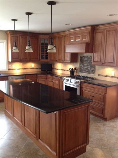 ideas  black granite kitchen  pinterest