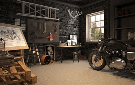 motorcycle workshop layout ideas vintage garage house design and decor