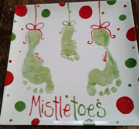 mistletoe craft for crafts mistletoe footprint and on