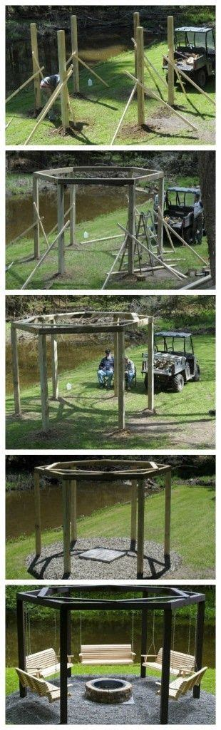 fire pit and swings swings around the cfire fire pits craft garden