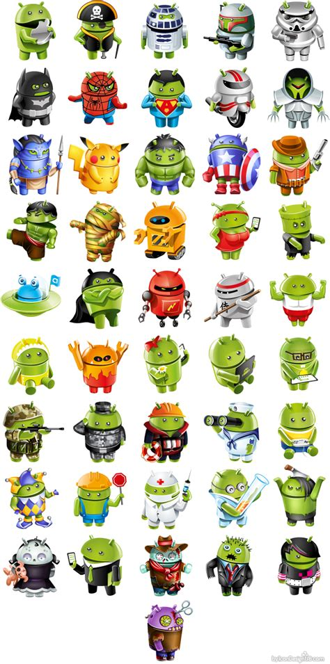 avatars for android avatar design in android style сharacter design