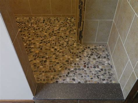 river rock bathroom floor river rock shower floor river rock shower floor pinterest