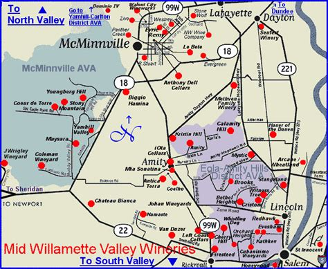 map of oregon vineyards map to the wineries of oregon s mid willamette valley