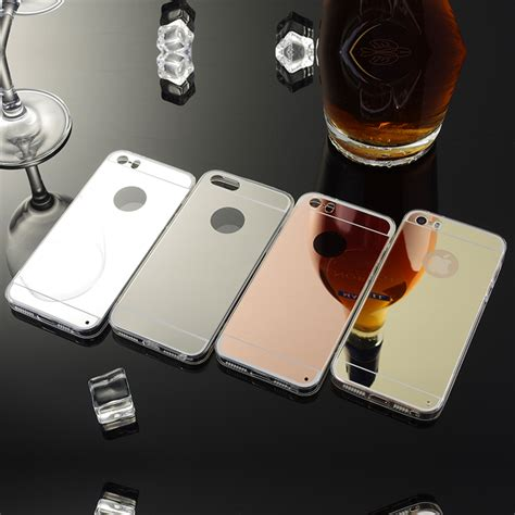 Op5091 Luxury Mirror Silicone Soft Casing Kaca Iphone 6 Kode Bi luxury high end atmosphere mirror slim cell phone for apple iphone 5 5s soft silicone frame