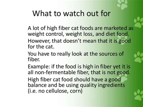 Sources Of Dietary Fiber And Weight Loss by High Fiber Cat Food