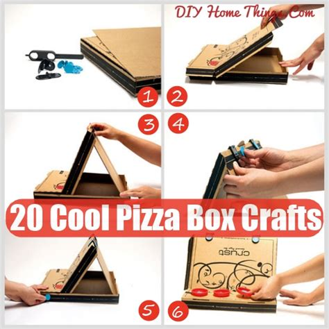 20 cool things you can make with a pizza box diy home things