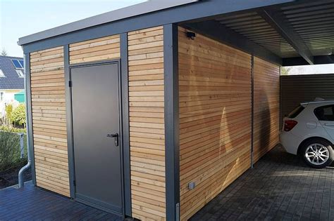 garage carport holz abstellraum carpot abstellraum carports