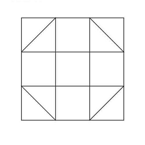 design elements shoo shoo fly block outline