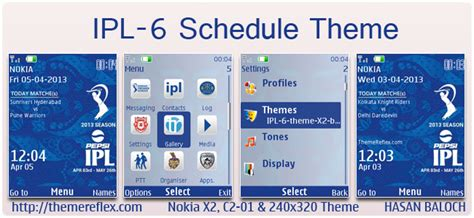 ipl theme download for pc ipl 6 schedule theme for nokia series 40 devices themereflex