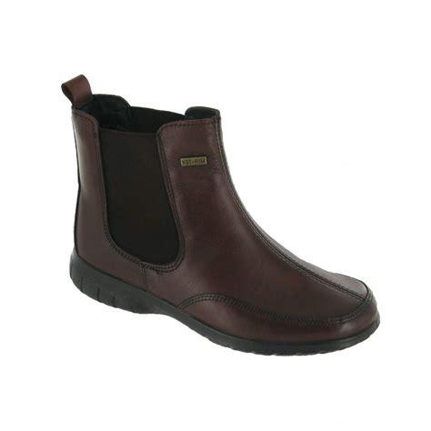 cotswold slimbridge brown leather waterproof ankle