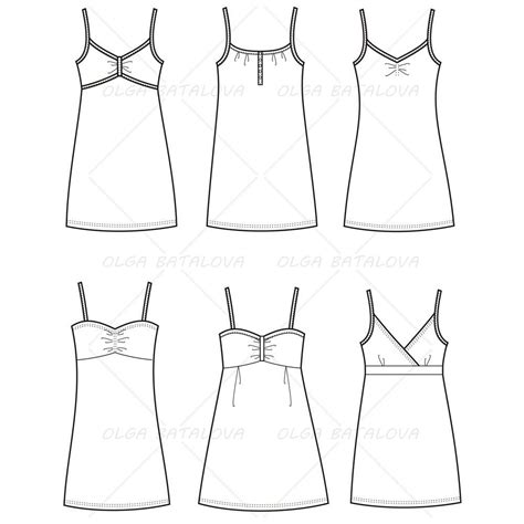 design dress template women s spaghetti strap dress fashion flat templates